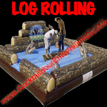 log rolling game button