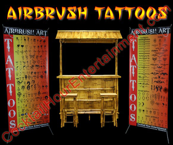 airbrush tattoos display