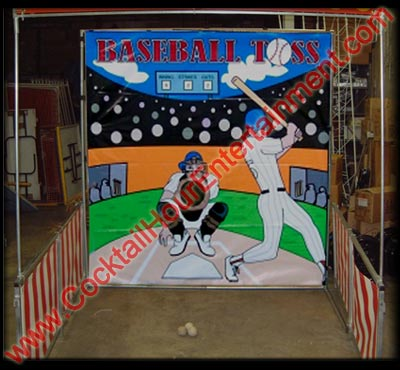 carnival baseball toss game
