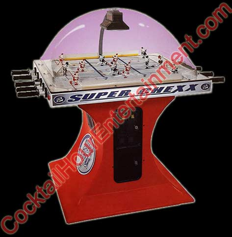 super chexx rod hockey arcade party rental