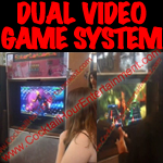 florida arcade game dual video game system button