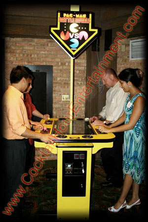 arcade game pacman party rental